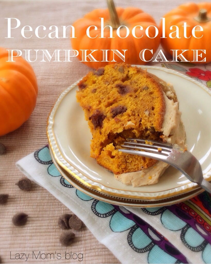 Pecan chocolate pumpkin cake