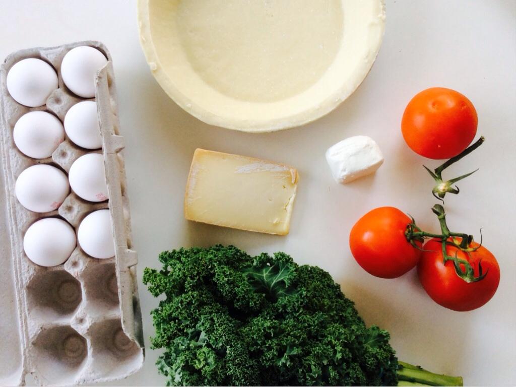 Kale& tomato chcesz quiche