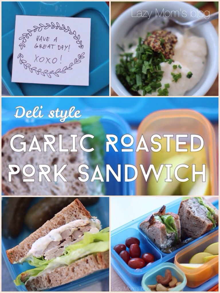 Garlic roast sandwich
