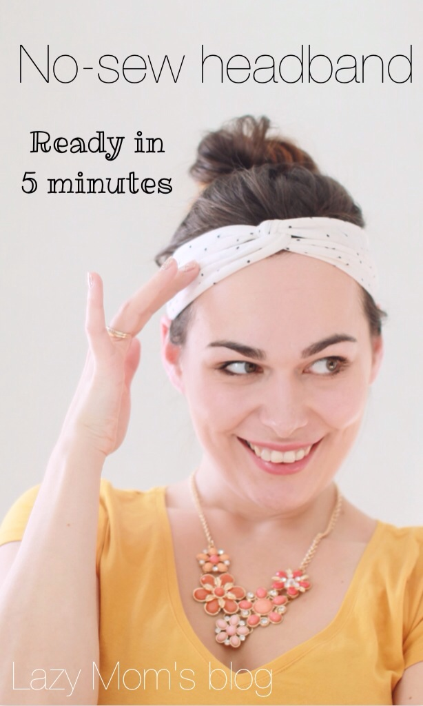 No-sew headband