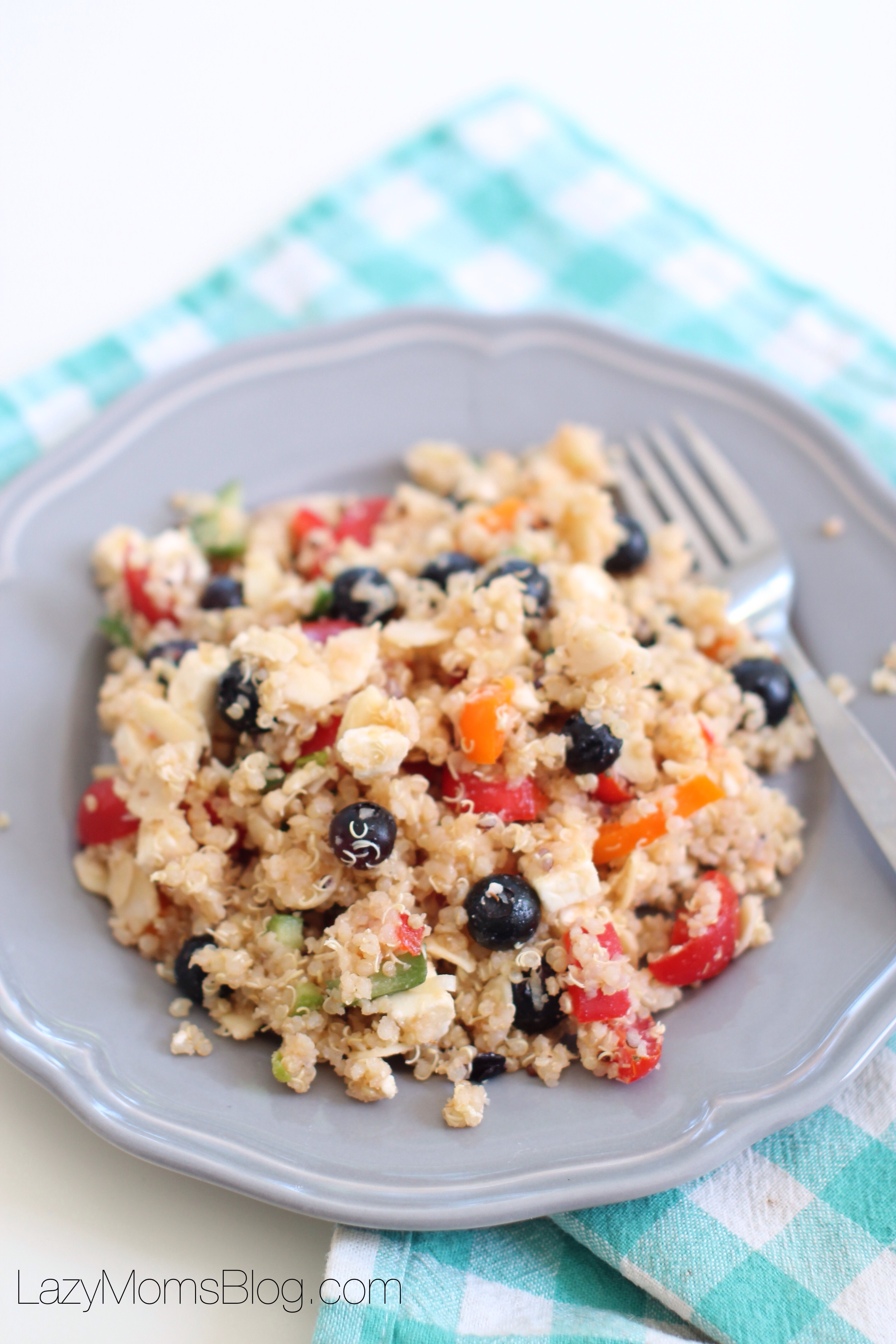 Kid friendly quinoa salad