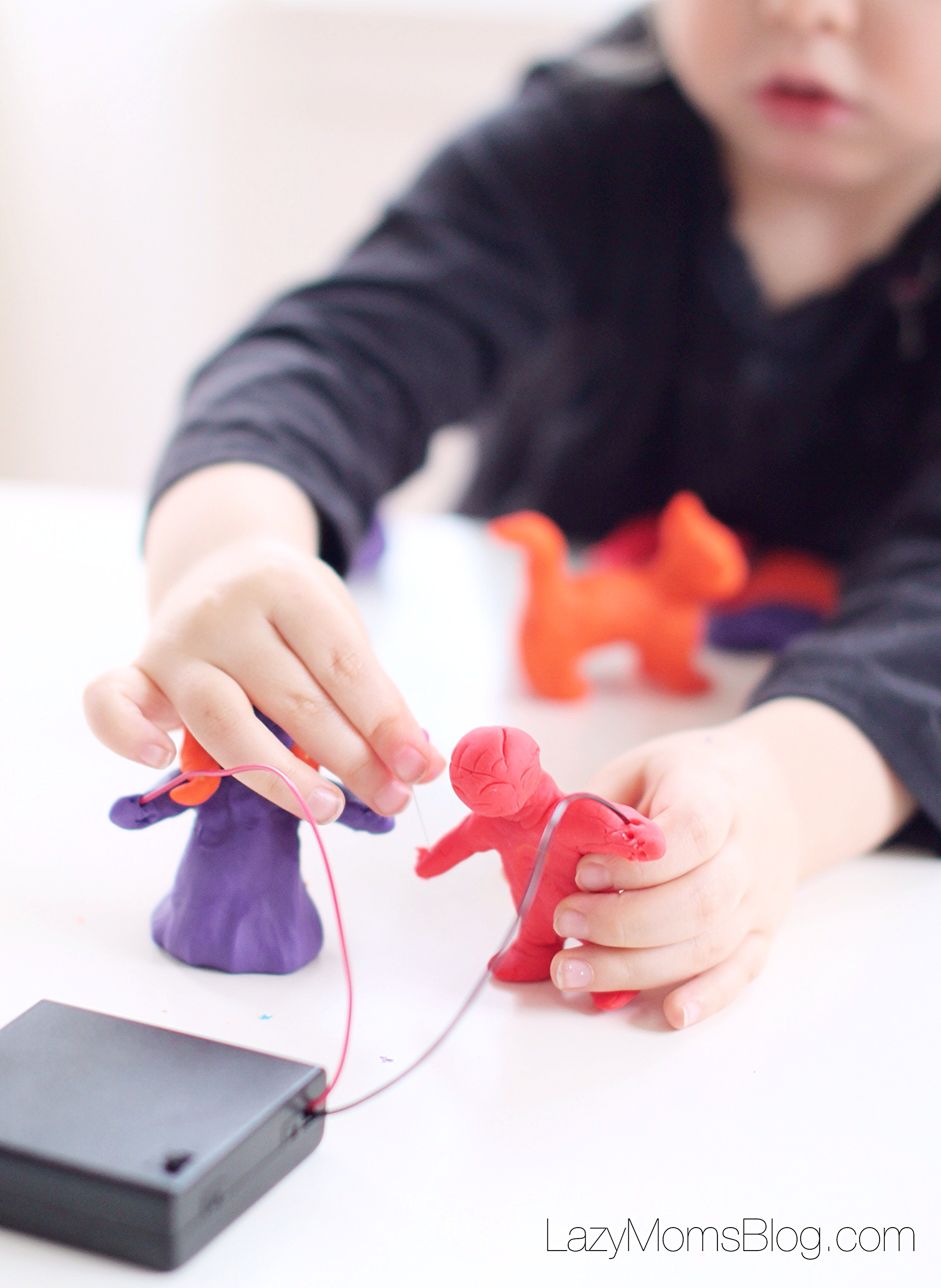 Great kit for experimenting with electricity while playing play dough