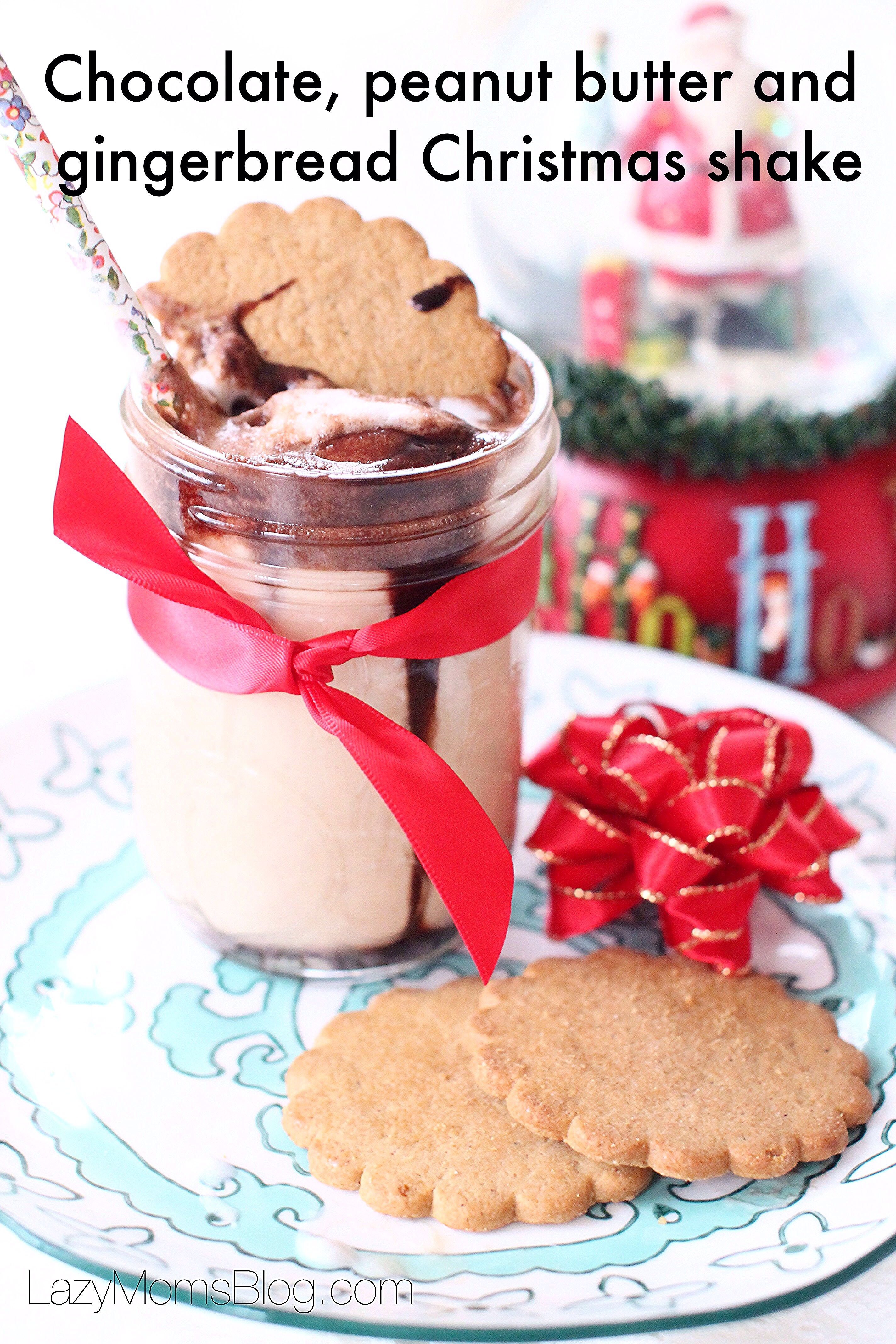 Chocolate, peanut butter and gingerbread Christmas shake: my new favourite festive treat!