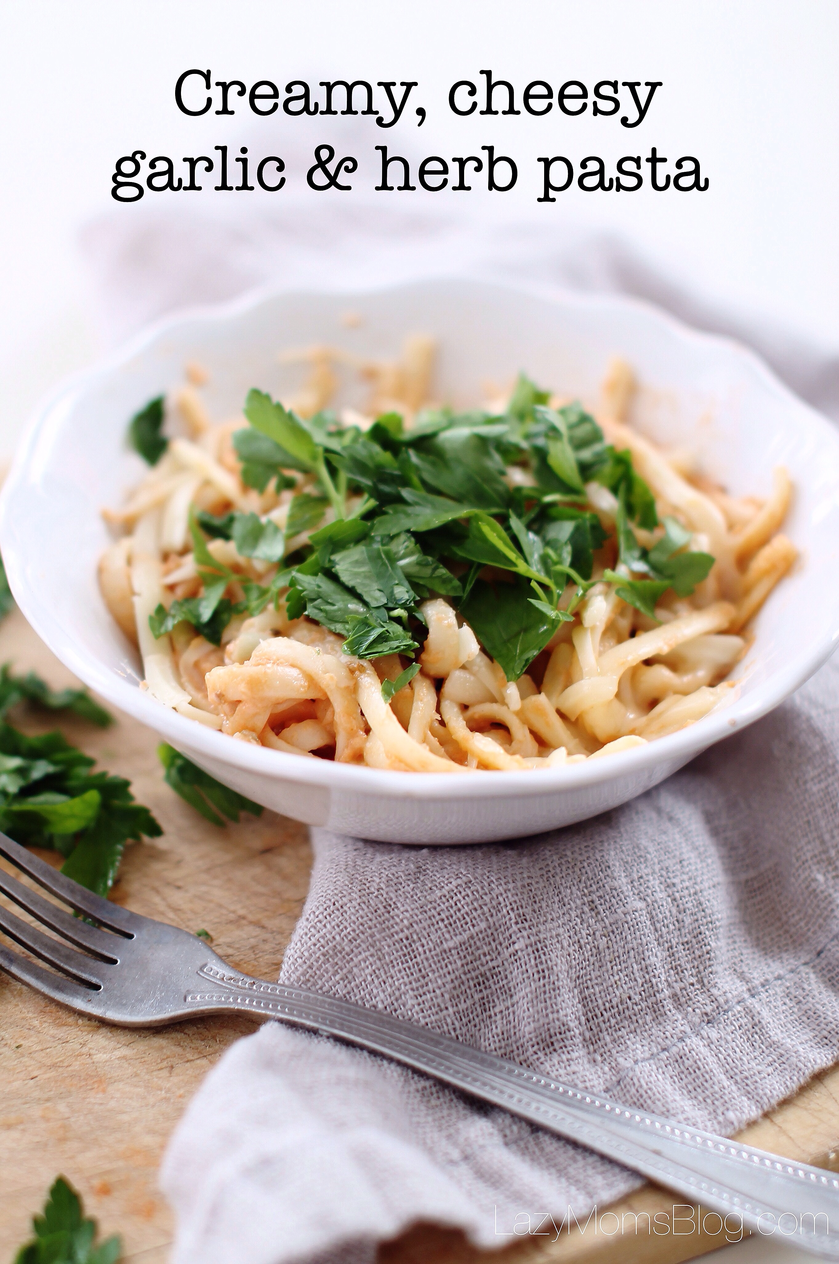 This creamy, cheesy garlic and herb pasta, is the best pasta recipe ever! The one that you'll want to make over and over again!