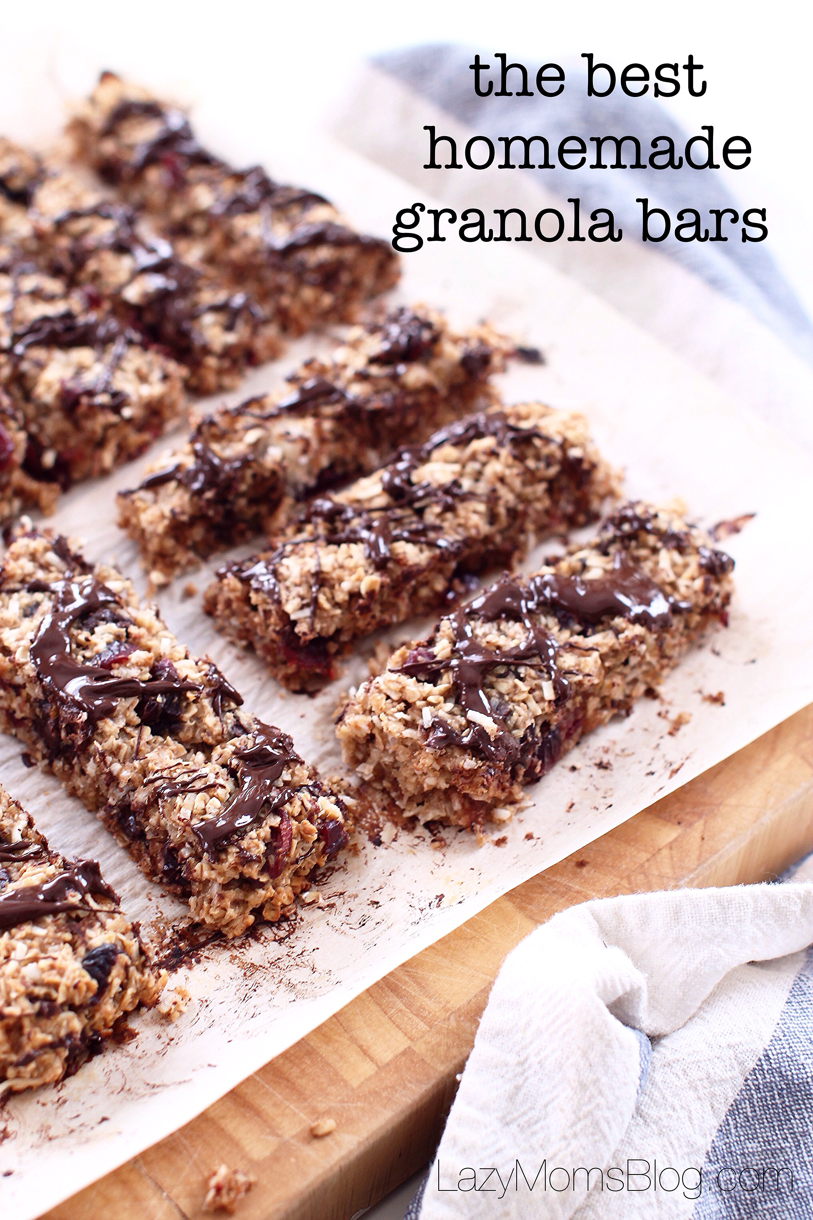 Best home-made granola bars ! Chewy, full of flavour, and healthy!