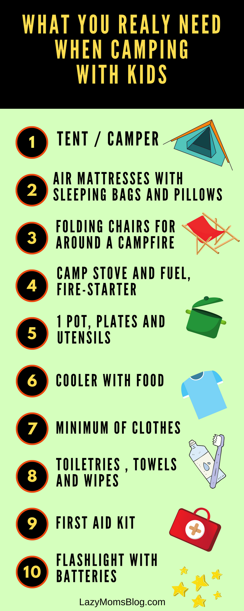 Here's what you REALLY need when camping with kids - the absolute minimum, and all that really is needed