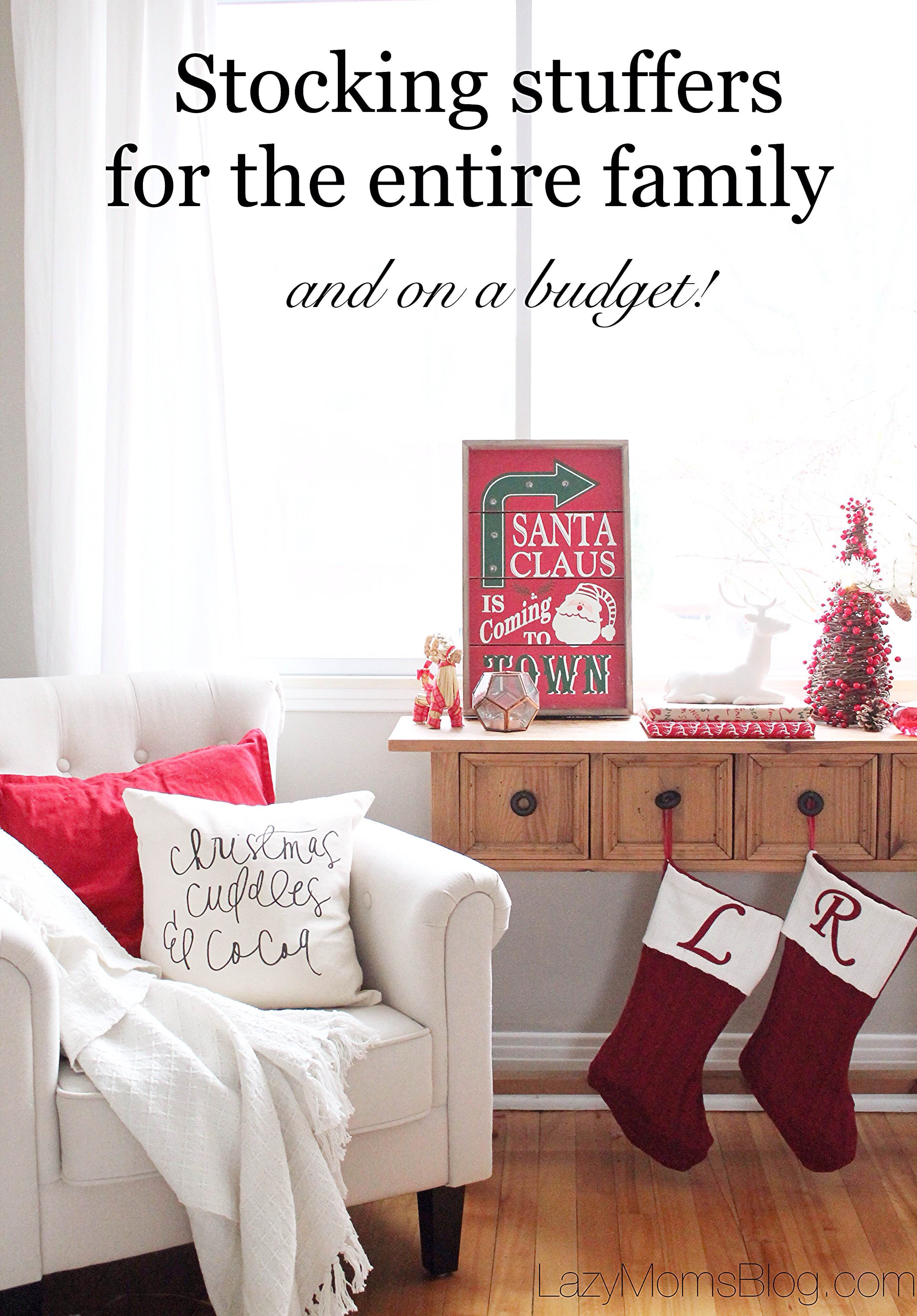 Great ideas for stocking stuffers for entire family, on a bugdet and all biught in one place! Great time and money saver for Christmas!