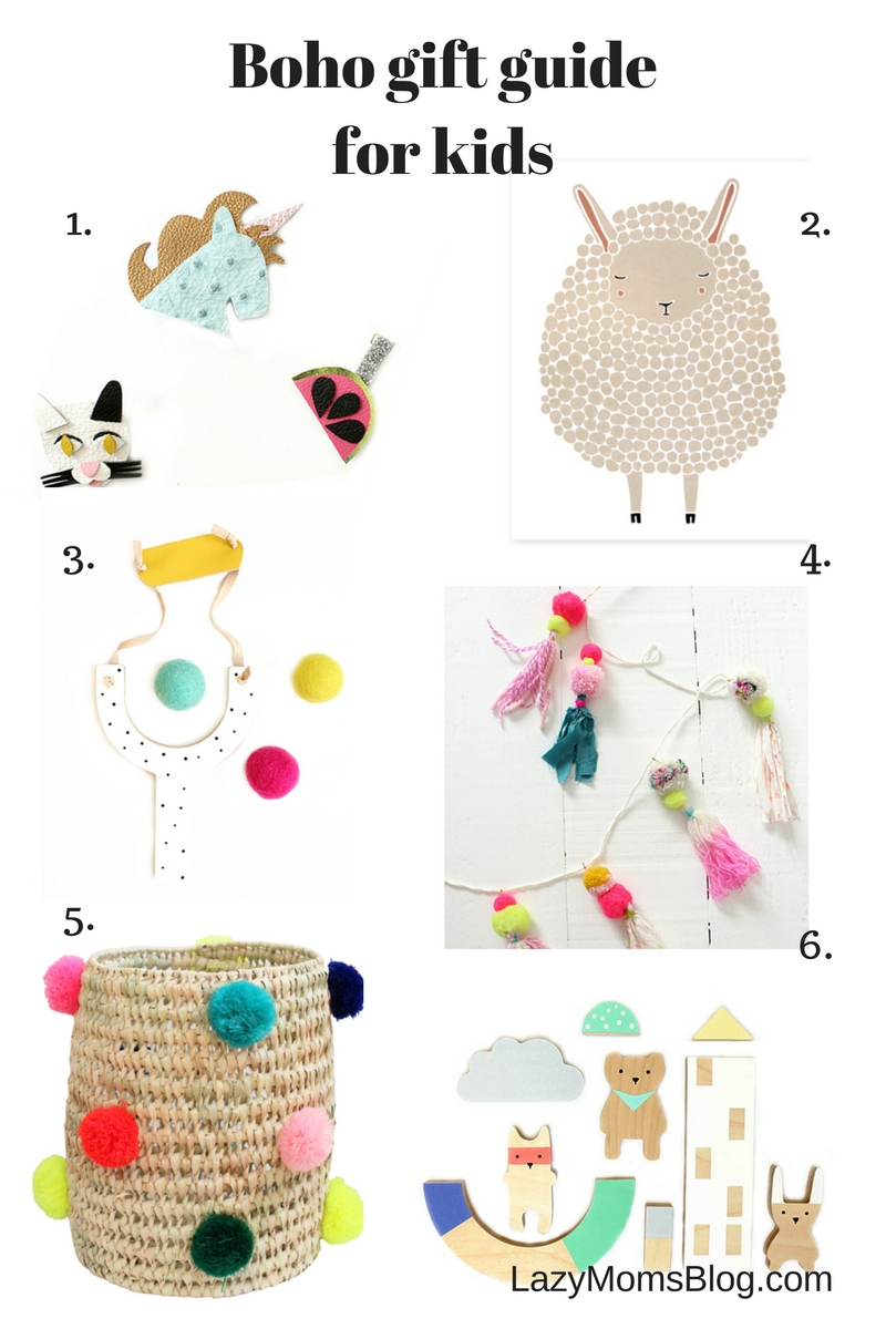 boho gift guide for kids, great finds for original gifts