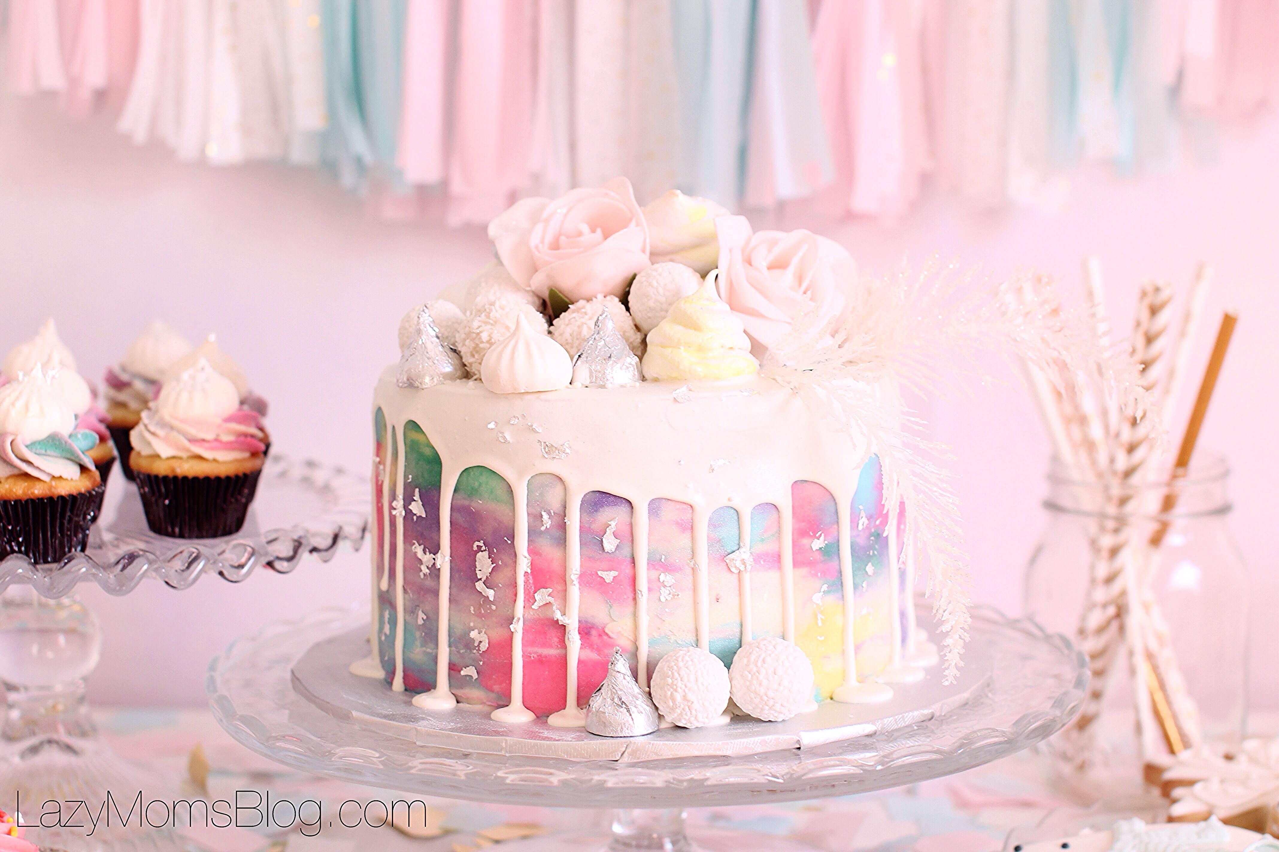 Winter pastel birthday party