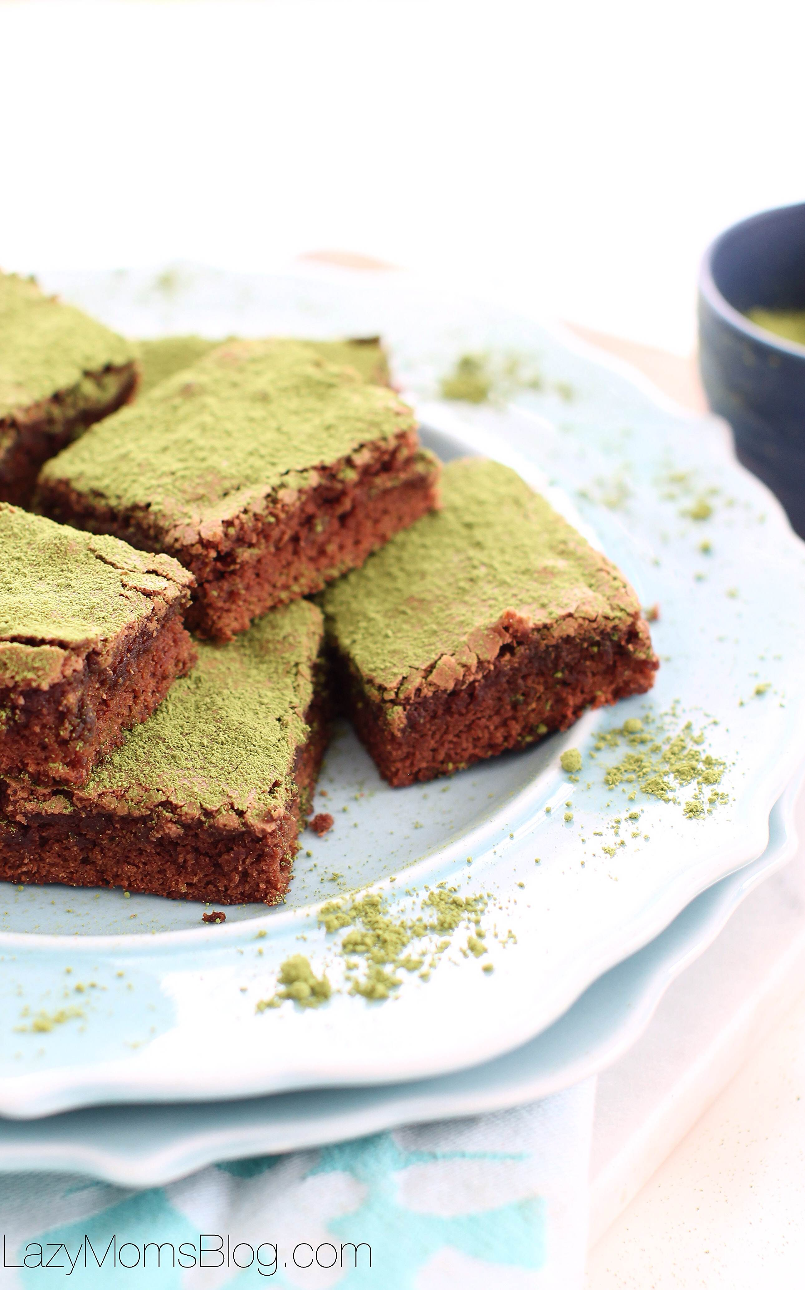 matcha brownies, easy and so yummy!!