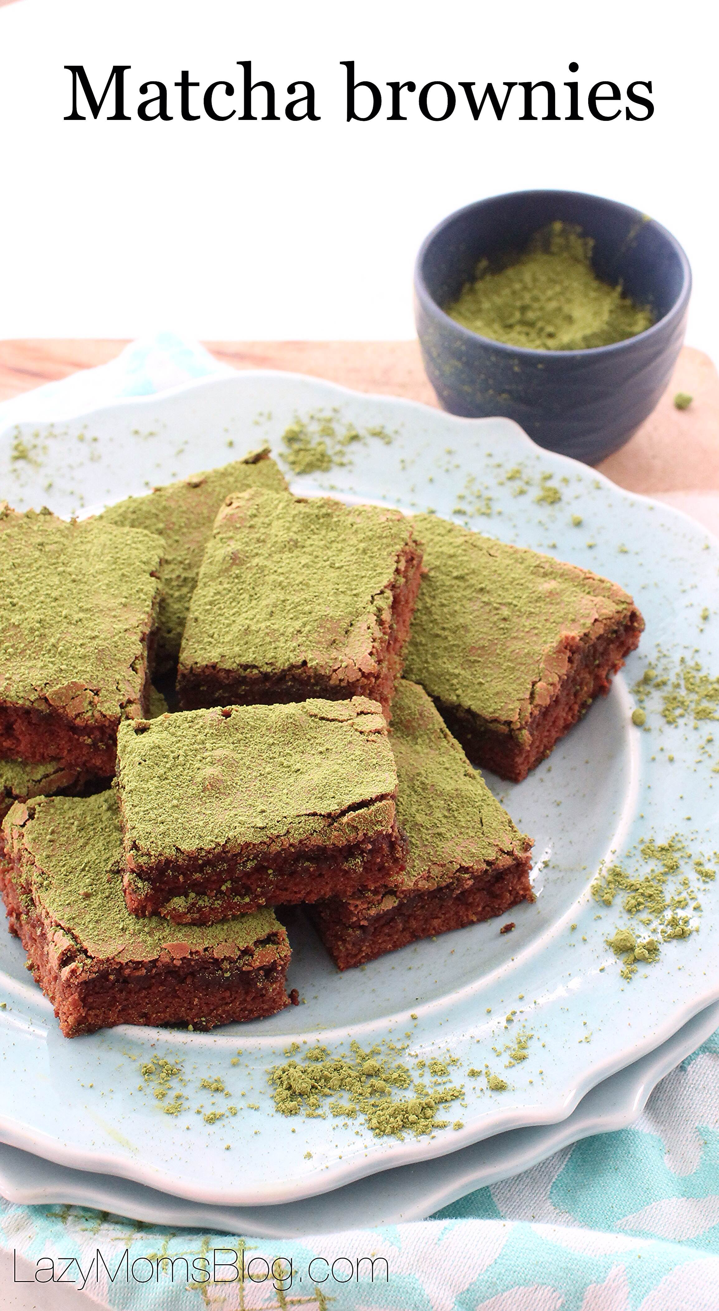 easy and delicious, matcha brownies that are too good not to share!