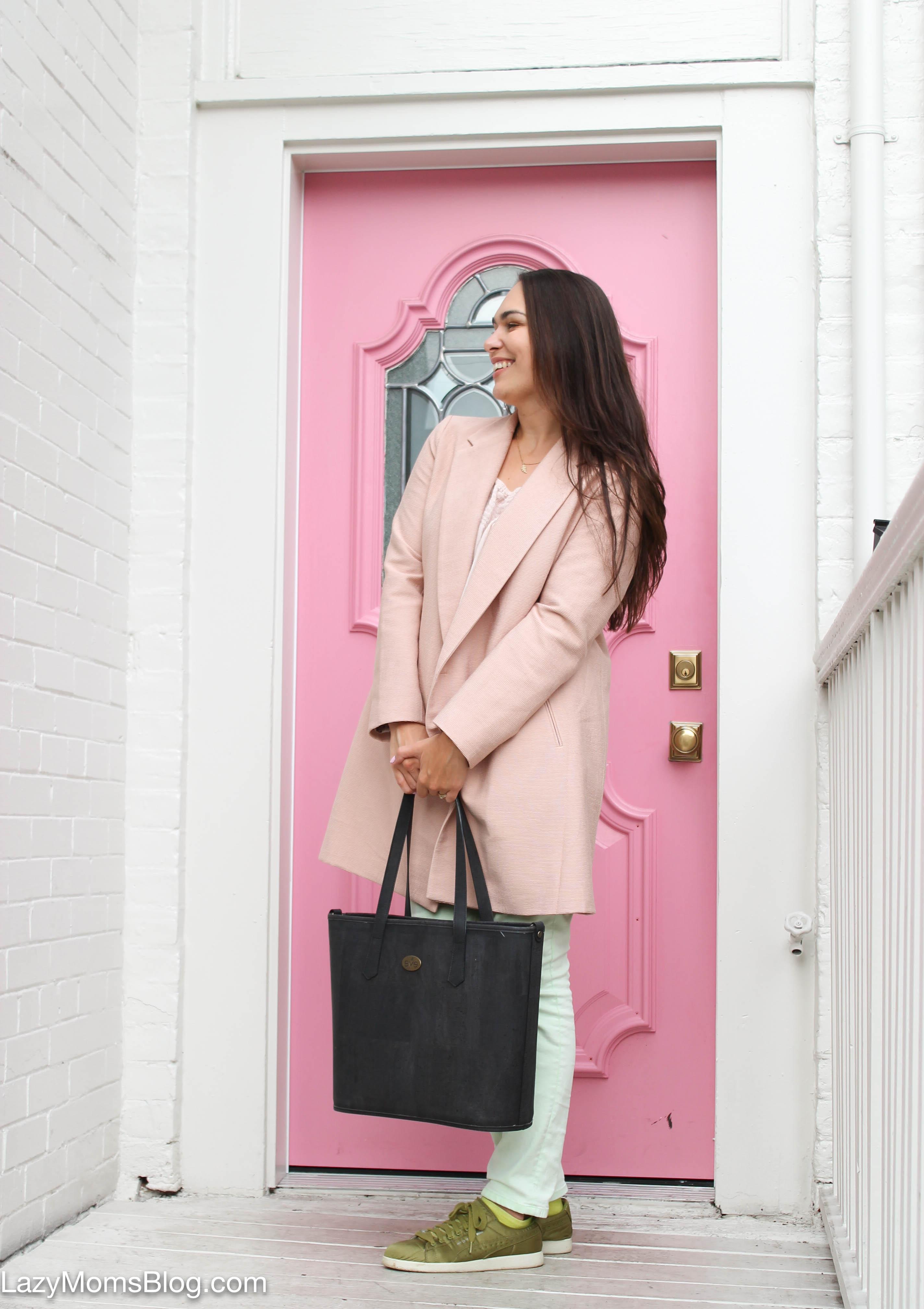 Pink coat three ways