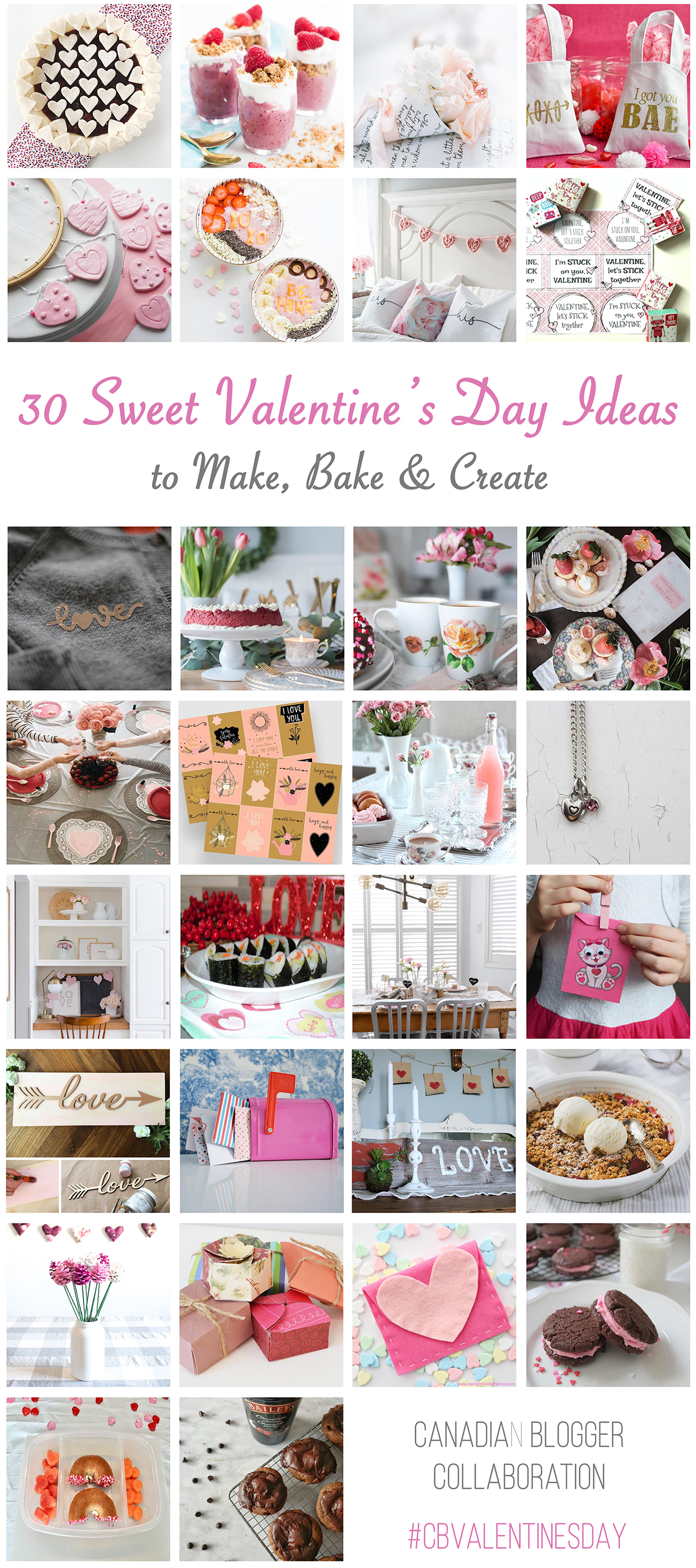 30 Valentine's Day Ideas to Make, Bake and Create