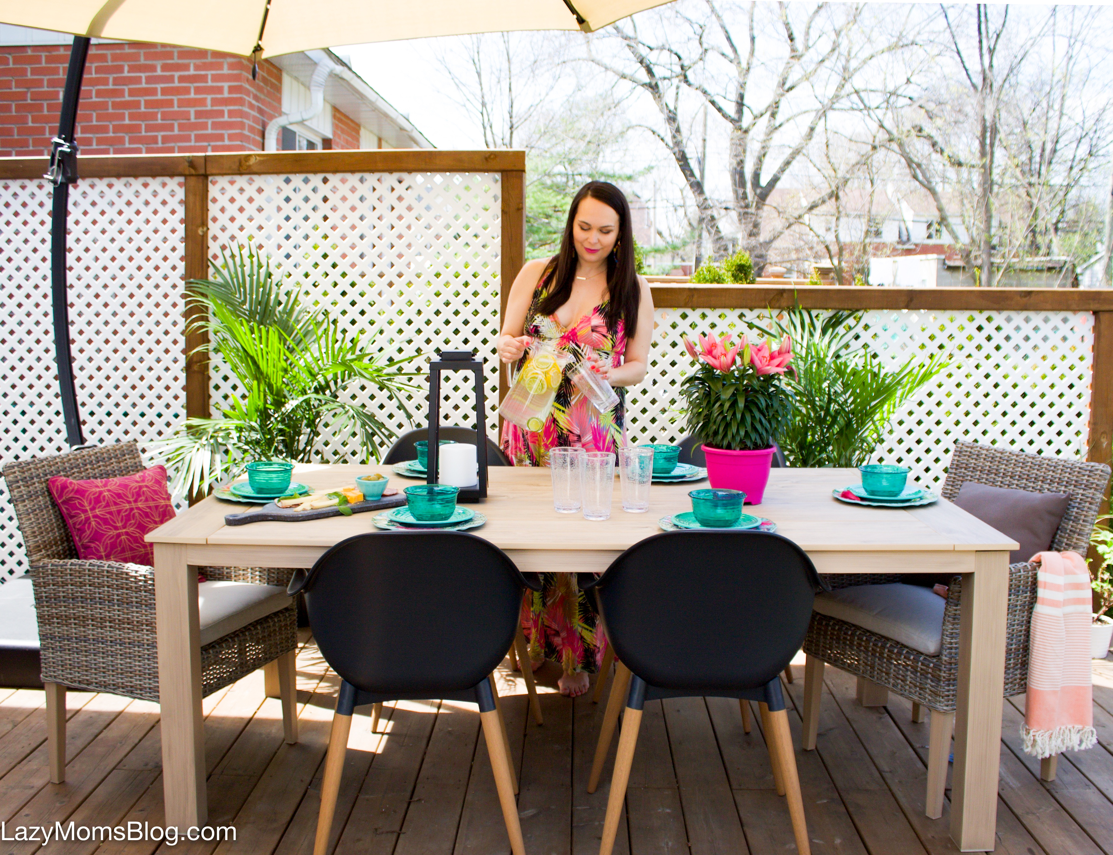 eclectic patio makeover