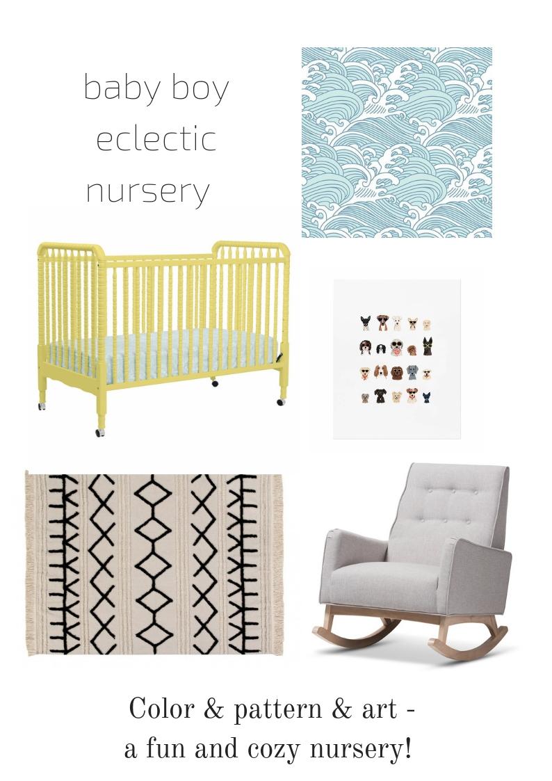 baby boy eclectic nursery