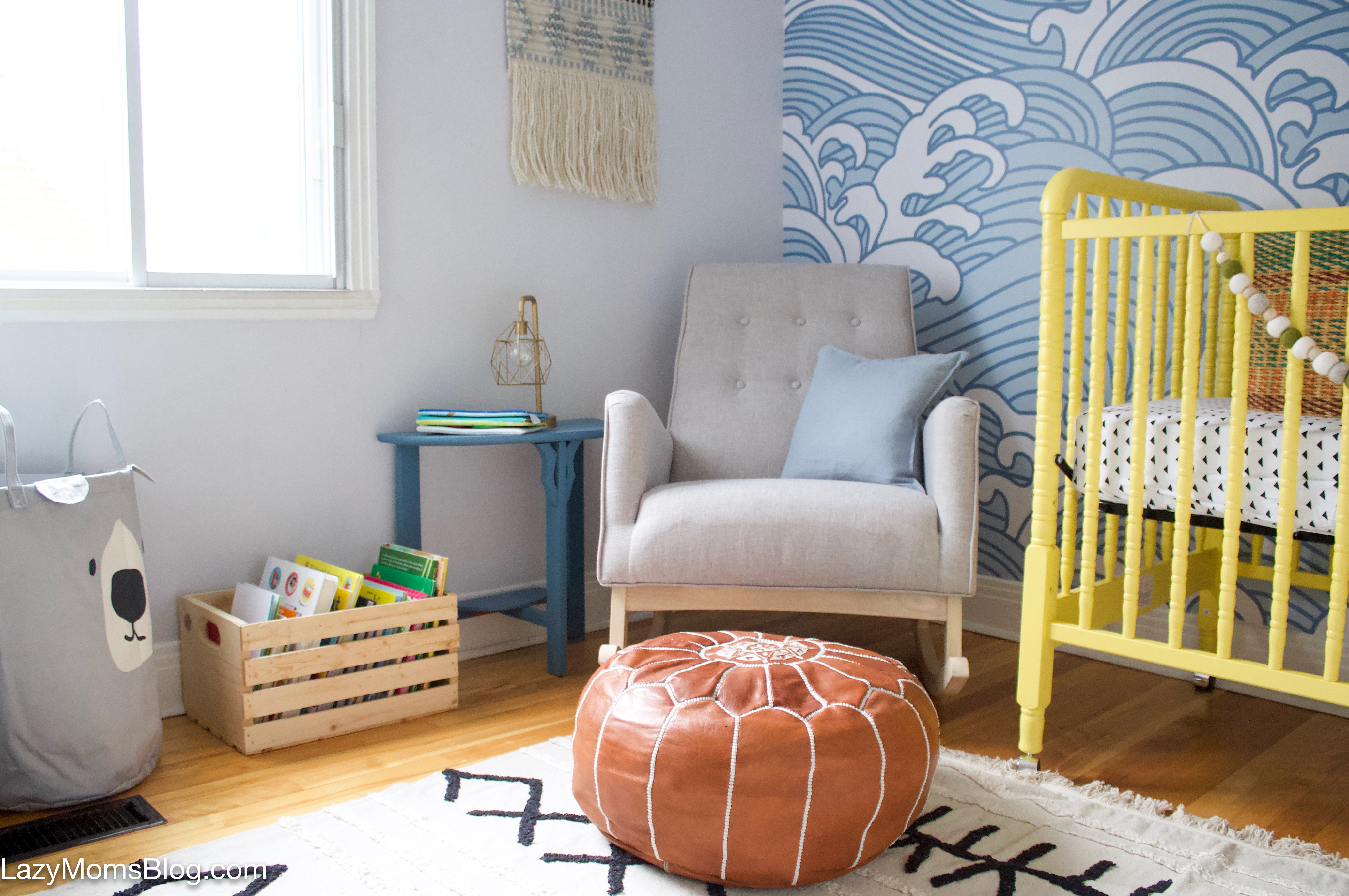 eclectic nursery makeover- One room challenge reveal