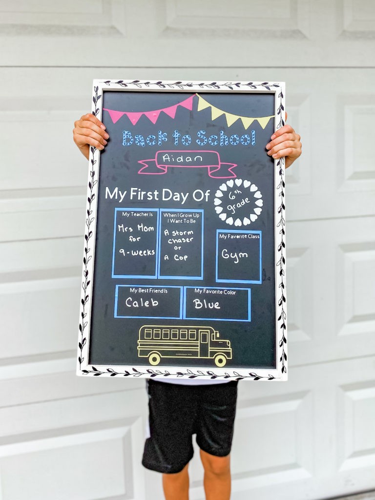 This image has an empty alt attribute; its file name is Cricut-School-Board-768x1024-1.jpg