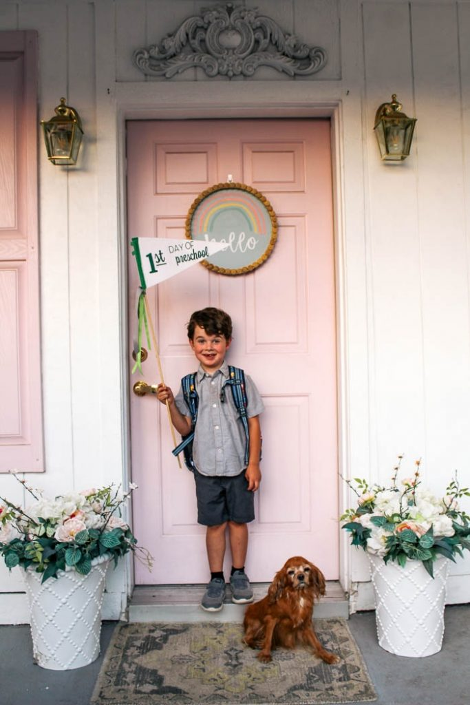 This image has an empty alt attribute; its file name is DIY-First-Day-of-School-Pennant-Flags_9861-683x1024.jpg